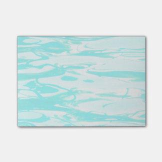 Aqua-grünes Pool-Wasser-abstrakter Hintergrund Post-it Klebezettel