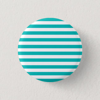 Aqua-horizontale Streifen Runder Button 2,5 Cm