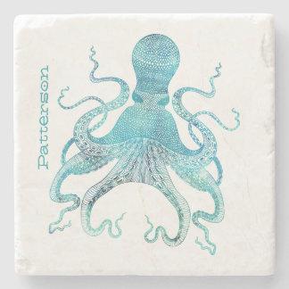 Aqua-Kraken-personalisierter SteinUntersetzer