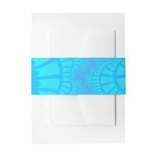 Aqua mischen Einladungs-Bauch-Band wieder Einladungsbanderole