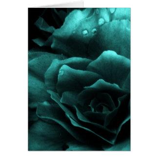 Aqua nah oben von einer doppelten Begonie Karte