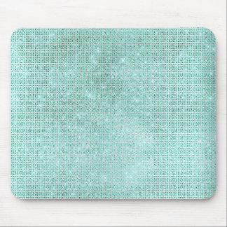 Aqua-Ozean-Blauaquamarine-Diamant-glänzender Mauspad