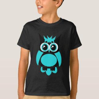 Aqua-Punk-Eule T-Shirt