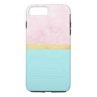 Aqua, Rosa, Gold - iPhone Fall iPhone 8 Plus/7 Plus Hülle