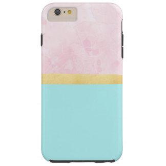 Aqua, Rosa, Gold - iPhone Fall Tough iPhone 6 Plus Hülle