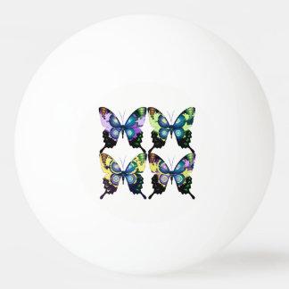 Aqua, Rosa und Gelb - elegante Schmetterlinge Tischtennis Ball