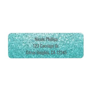 Aqua-Seeblaue Glitter-Schein-Party Einladung
