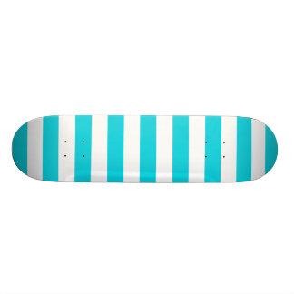 Aqua Stripes Muster Individuelle Skateboards