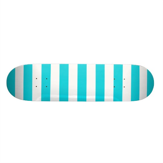 Aqua Stripes Muster Individuelle Skateboards