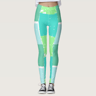 Aqua-tadellose modische FarbeImitat-batik Leggings