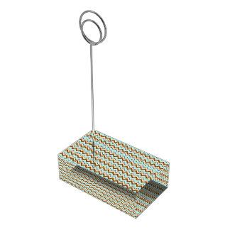 Aqua-TAN-Toast-Zickzack-Zickzack Muster