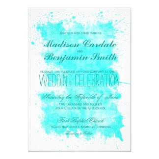 Aqua-Türkis-Sommer-Strand-Hochzeits-Einladungen Karte