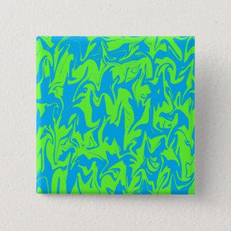 Aqua u. Limoner Strudel Quadratischer Button 5,1 Cm