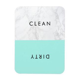Aqua und weiße moderne magnet