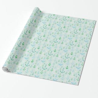 Aqua verankert Packpapier