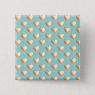 Aqua viele Herz-Knopf Quadratischer Button 5,1 Cm