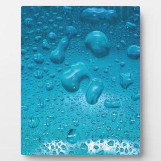 Aqua Waterdrops auf Glas: - Fotoplatte