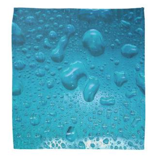 Aqua Waterdrops auf Glas: - Kopftuch