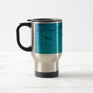 Aqua Waterdrops auf Glas: - Reisebecher