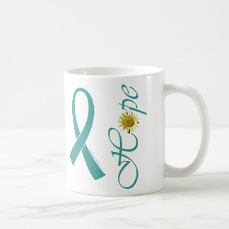 Aquamarine Band-Hoffnungs-Tasse Kaffeetasse