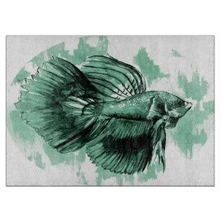 Aquamarine Betta Fisch-dekoratives