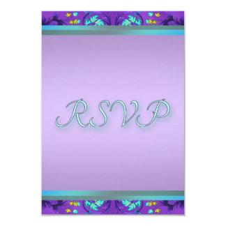 Aquamarine blaue lila UAWG Schablone Karte