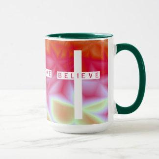 Aquamarine Dreiheit glaubt Kreuz-Tasse Tasse