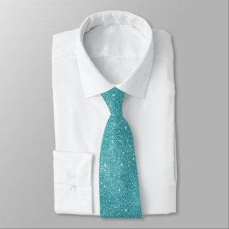 Aquamarine Glitter-Glitzern Individuelle Krawatte