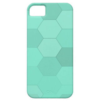 Aquamarine-Hexagone Barely There iPhone 5 Hülle