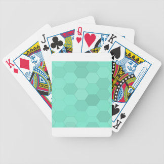 Aquamarine-Hexagone Bicycle Spielkarten