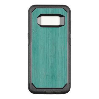 Aquamarine-hölzerner Korn-Bambusblick OtterBox Commuter Samsung Galaxy S8 Hülle