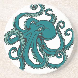 Aquamarine Krake Getränkeuntersetzer