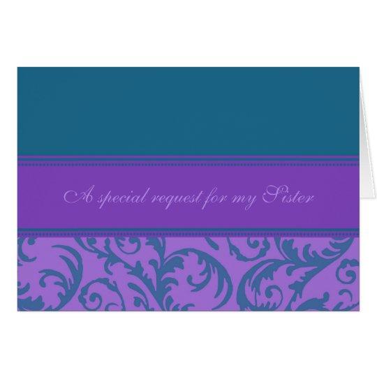 Aquamarine lila grußkarte