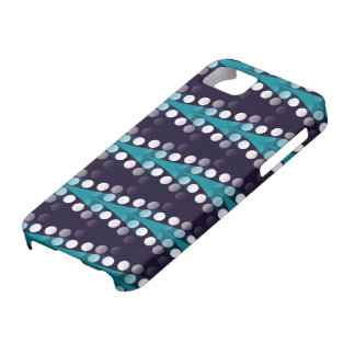 Aquamarine Pfeile u. weißer Punktmuster iPhone 5 iPhone 5 Hülle