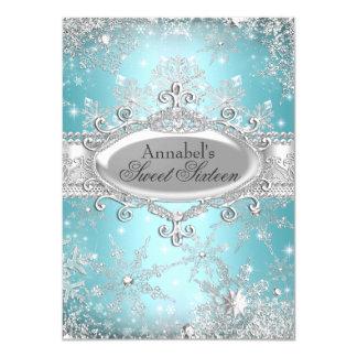Aquamarine Prinzessin Winter Wonderland Sweet 16 11,4 X 15,9 Cm Einladungskarte