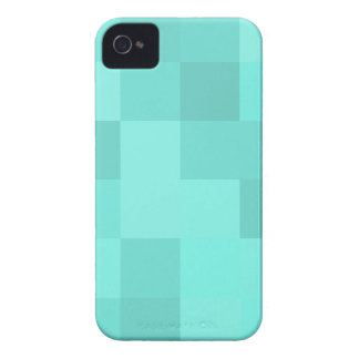 Aquamarine-Quadrate iPhone 4 Case-Mate Hüllen