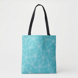 Aquamarine Starfish-Strand-Tasche Tasche