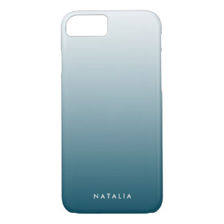 Aquamarine Steigung Ombre personalisiert iPhone 8/7 Hülle