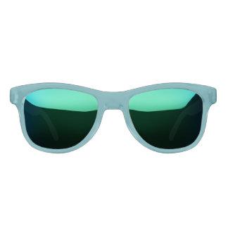 Aquamarine u. lila Spiegel-Sonnenbrillen Sonnenbrille