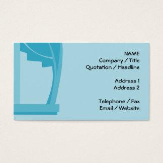 Aquamarine und Türkis-Zusammenfassung Visitenkarte