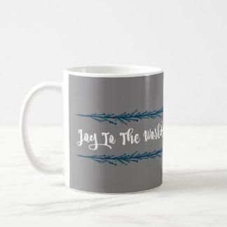 Aquamarine Zweig-Freude zum Weltweihnachten Kaffeetasse