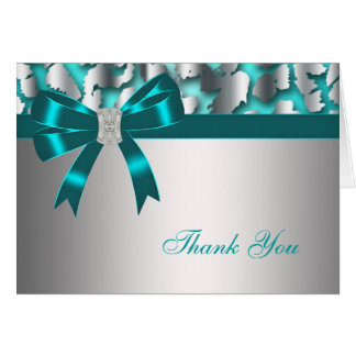 Aquamariner blauer Leopard danken Ihnen zu Mitteilungskarte