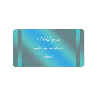 Aquamariner blauer Rücksendeadressen-Aufkleber Adressaufkleber