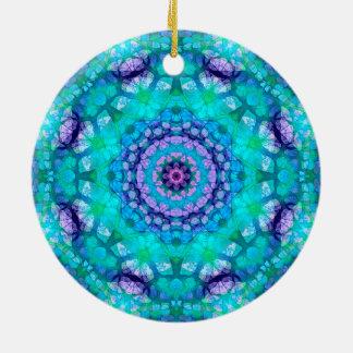 """Aquamariner, blauer und lila """"tropisches Wasser"""" Keramik Ornament"""