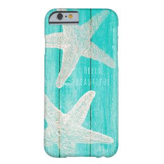Aquamariner Holz-u. Starfish-Strandeleganter Chic Barely There iPhone 6 Hülle