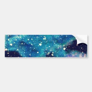 Aquamariner Nebelfleck und Sterne Autoaufkleber