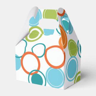 Aquamariner, orange u. grüner geschenkkarton