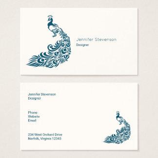 Aquamariner Pfau-mutiger stilvoller Visitenkarte