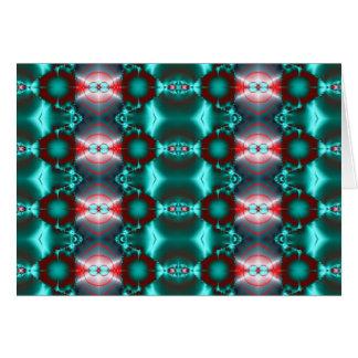 Aquamariner roter abstrakter bunter Entwurf Karte