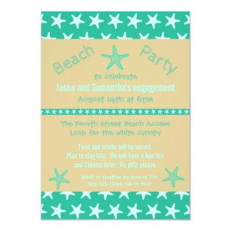 Aquamariner Starfish-Strand - Verlobungs-Party 12,7 X 17,8 Cm Einladungskarte